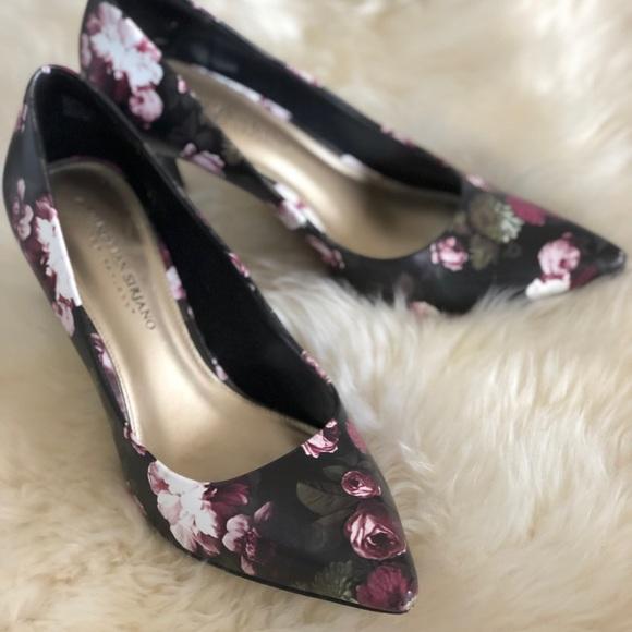 71b1065d1f55 Christian Siriano Shoes - Black Floral Heels Pumps